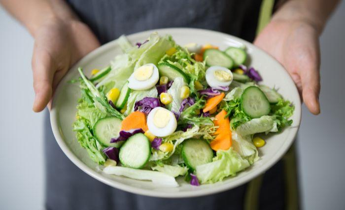 Zdrowa sałatka na diecie