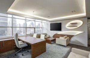 Krzesło ergonomiczne w biurze